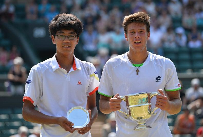 Chung vs Quinzi - Wimbledon Junior 2013