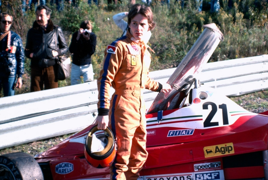 1977ecco Gilles alla Ferrari