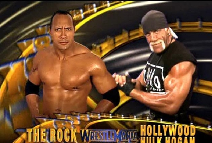 The Rock vs Hulk Hogan
