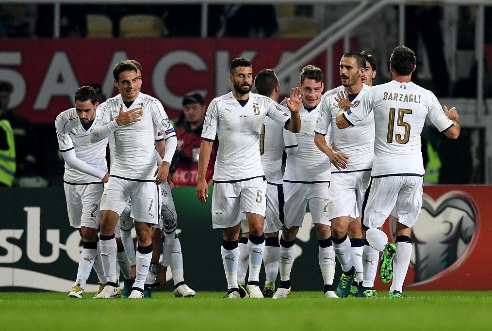 formazione italiana durante un match