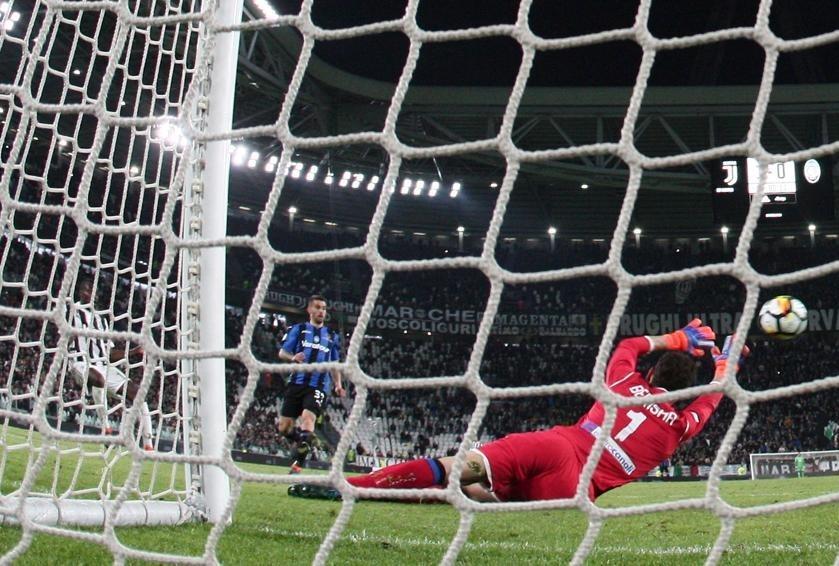 Il gol del raddoppio della Juventus