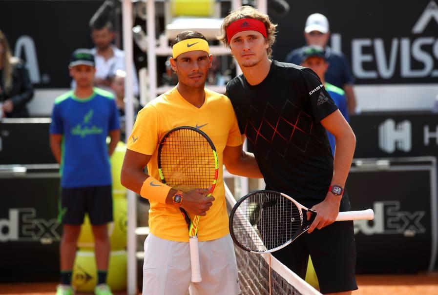 20 maggio 2018 Nadal e Zveverev a Roma