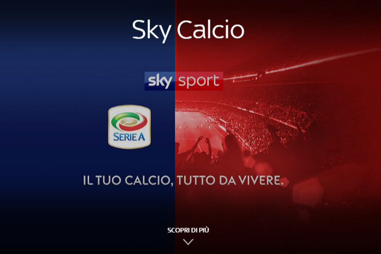 Il logo di Sky per celebrare l'acquisizione dei diritti tv della Serie A