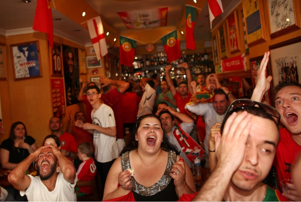 Portuguese Football Fans Gather To Watch