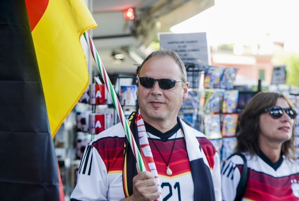 Germany Fans Watch 2014 FIFA World Cup F