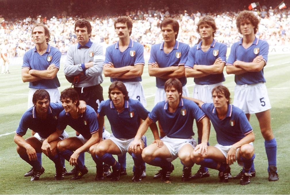 FUSSBALL WM 1982 in Spanien TeamMannscha