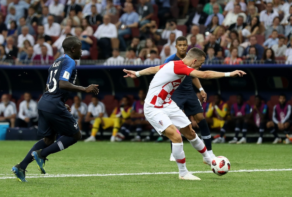 MOSCOW RUSSIA - JULY 15 Ivan Perisic of