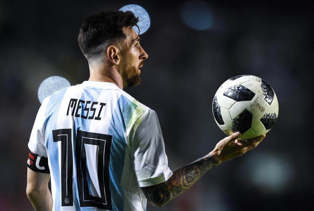 Messi nellamichevole Argentina-Haiti