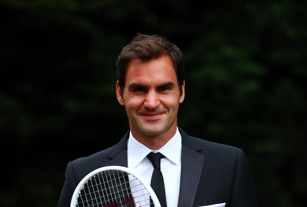 Roger Federer Wimbledon Record Celebrate