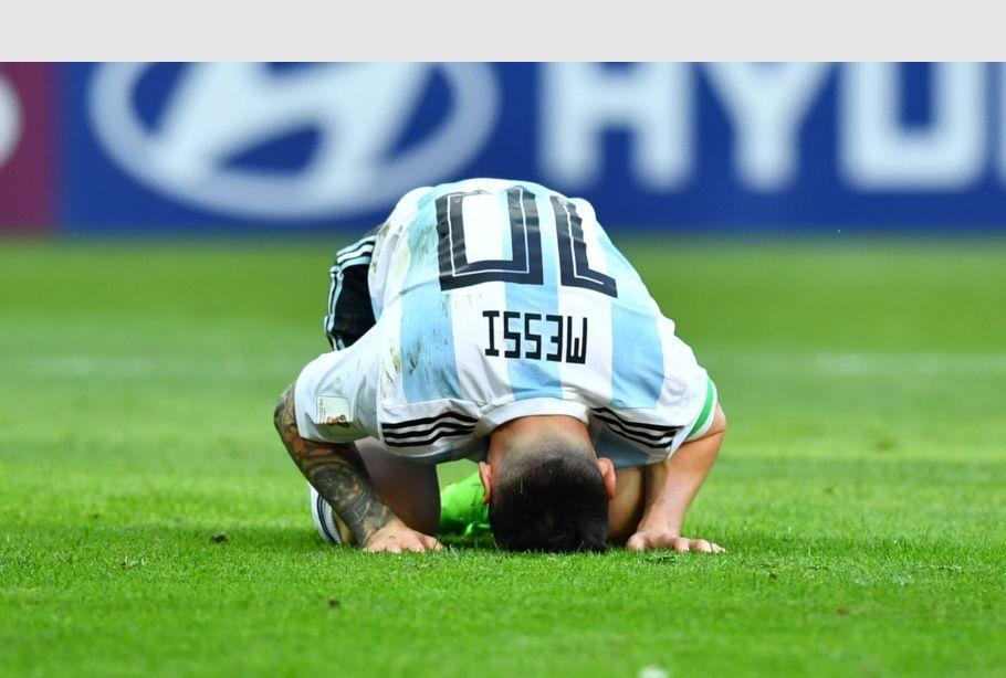 Messi al termine di Francia-Argentina