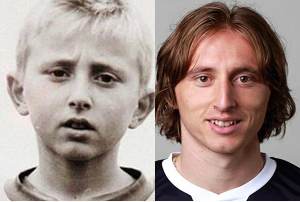 I due volti di Luka Modric bambino e adu