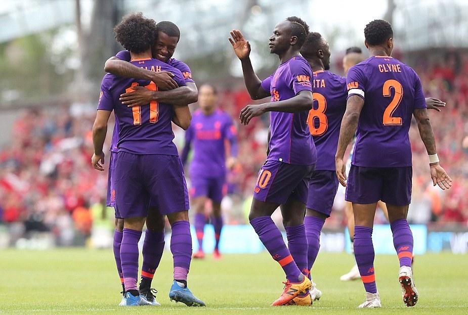 I giocatori del Liverpool esultano