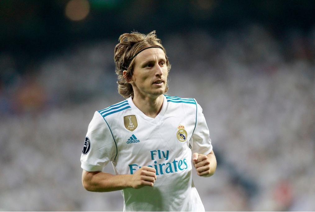 Real Madrids Luka Modric during Champion