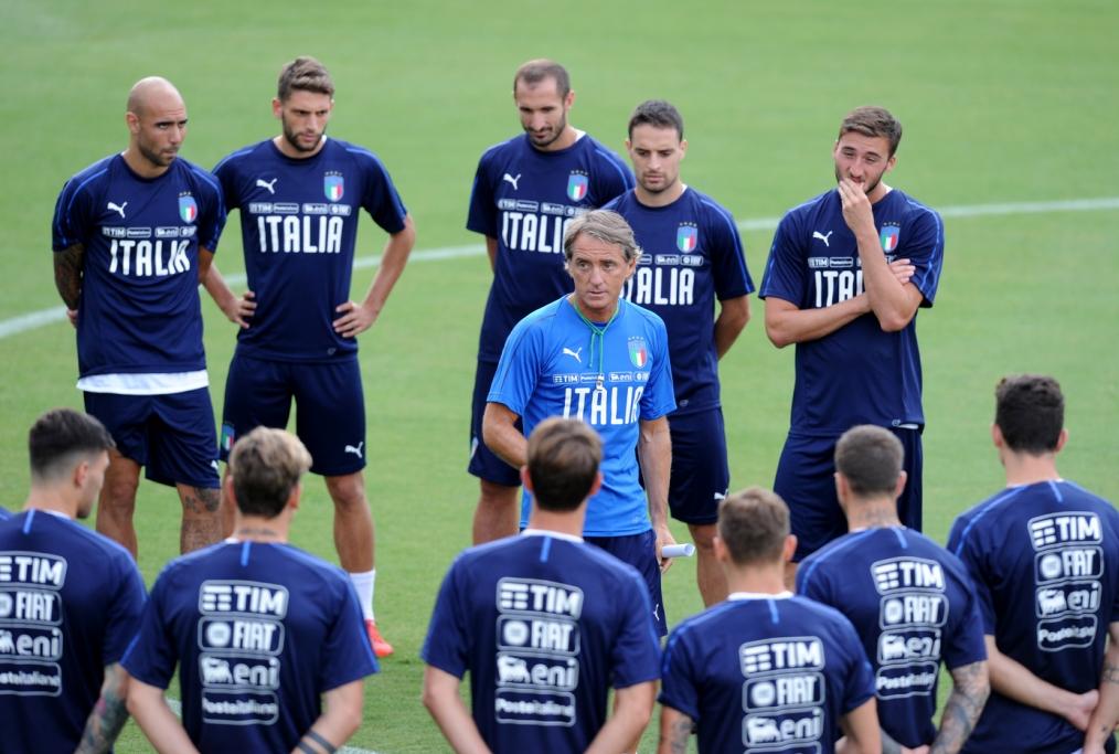 Mancini e gli azzurri