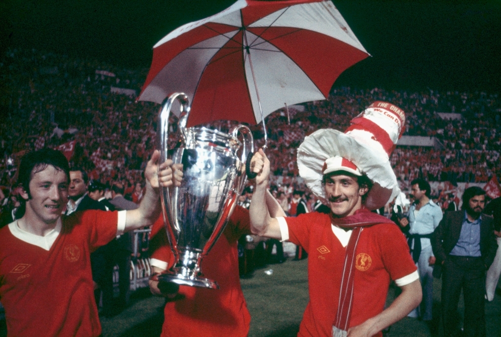 Liverpool celebrate victory 1977 Europea