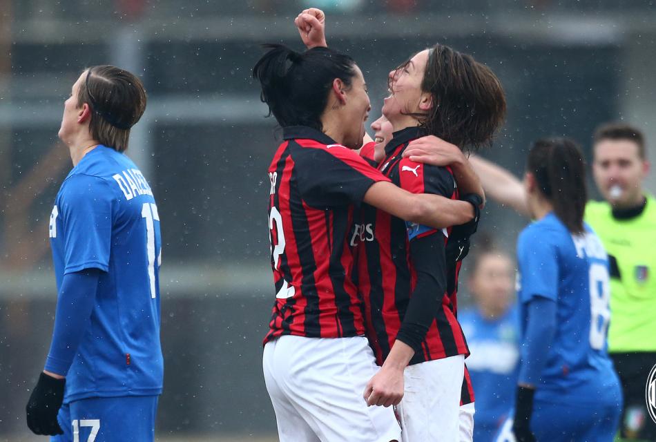 Milan Sassuolo Femminile 5 a 2