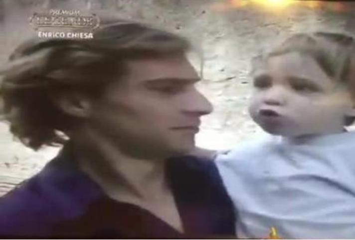 Enrico Chiesa col figlio Federico