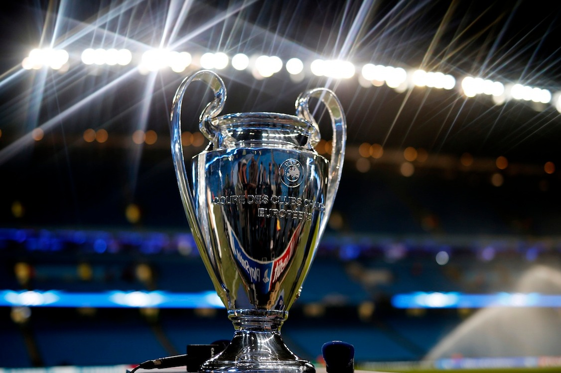 Football - Manchester City v FC Barcelona - UEFA Champions League Second Round First Leg - Etihad Stadium, Manchester, England - 24/2/15General view of the UEFA Champions League trophy at the Etihad stadium before the matchReuters / Phil NobleLivepicEDITORIAL USE ONLY.