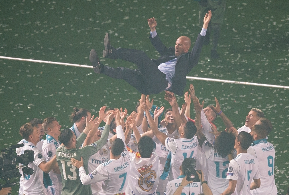 Real Madrid Celebrate After Victory In T