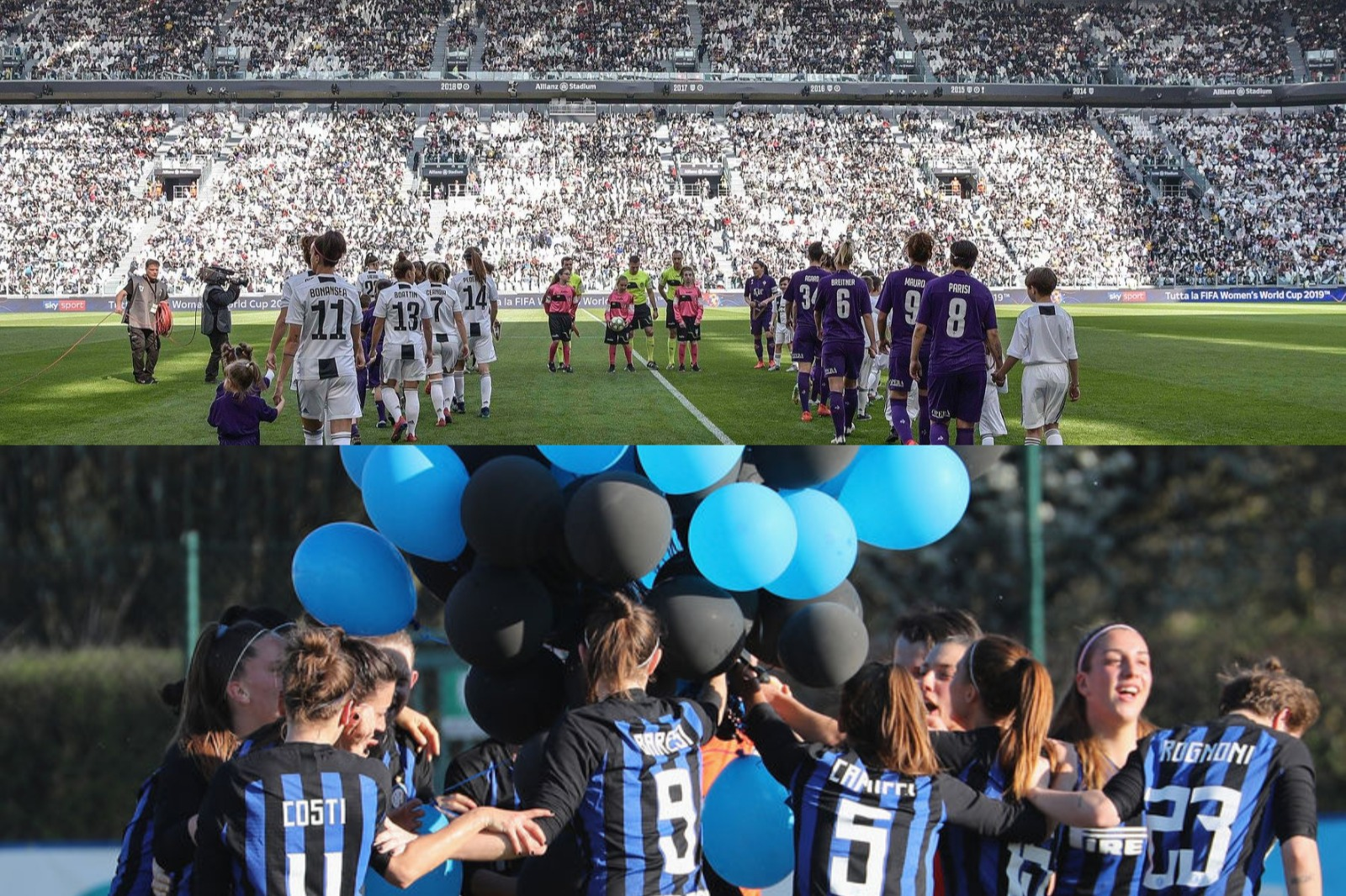 Women: Juventus-Fiorentina; Inter-Arezzo