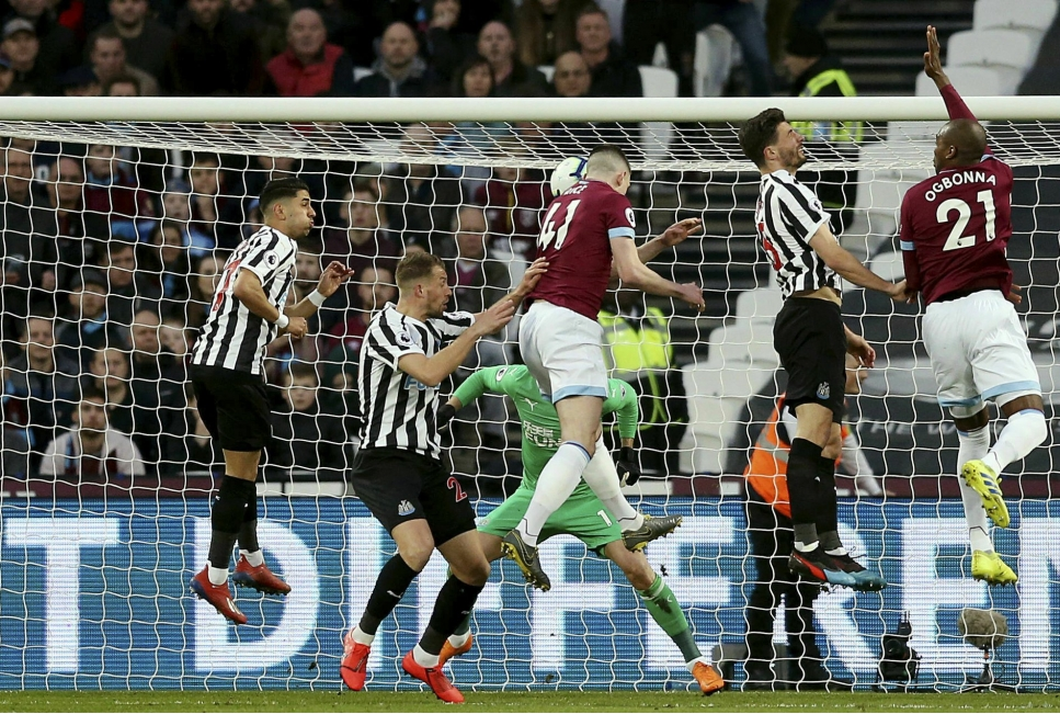 West Ham 1 Newcastle 0