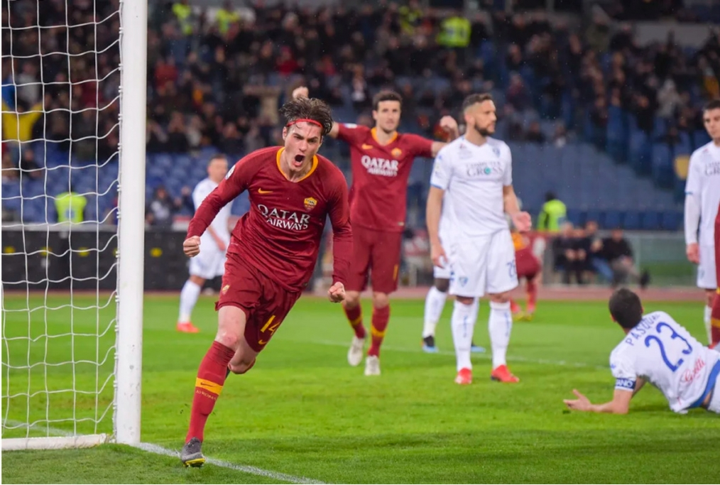 Esultanza di Schick al gol decisivo cont