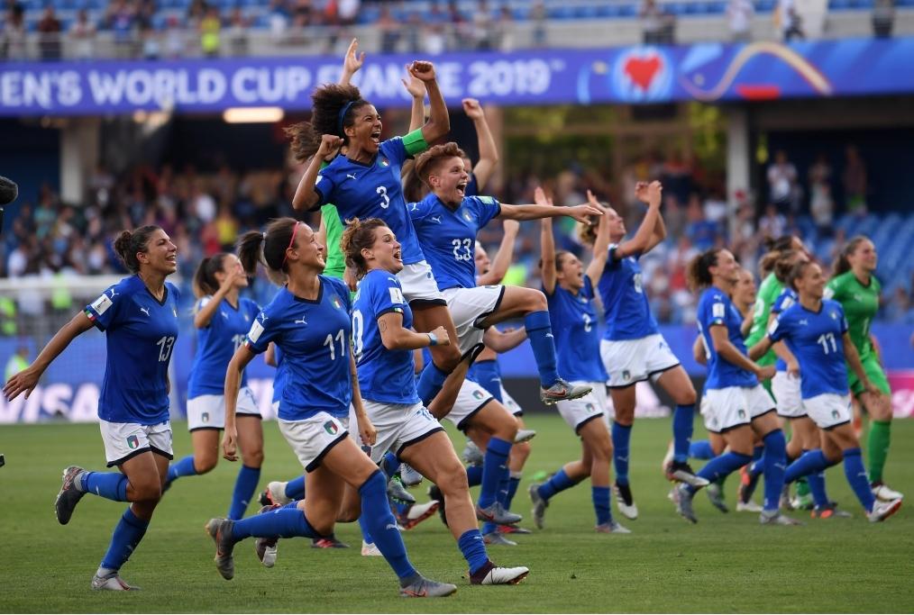 Italia femminile di calcio al mondiale f