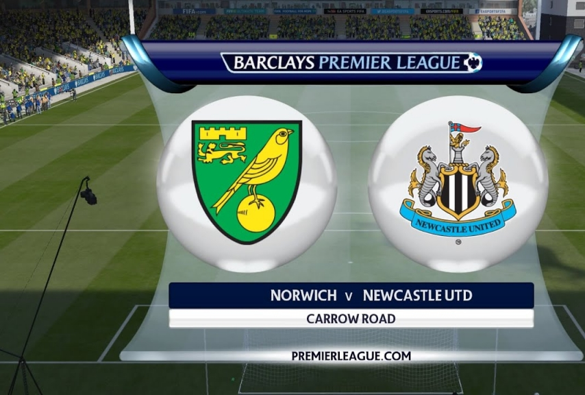 NORWICH CITY VS NEWCASTLE UNITED