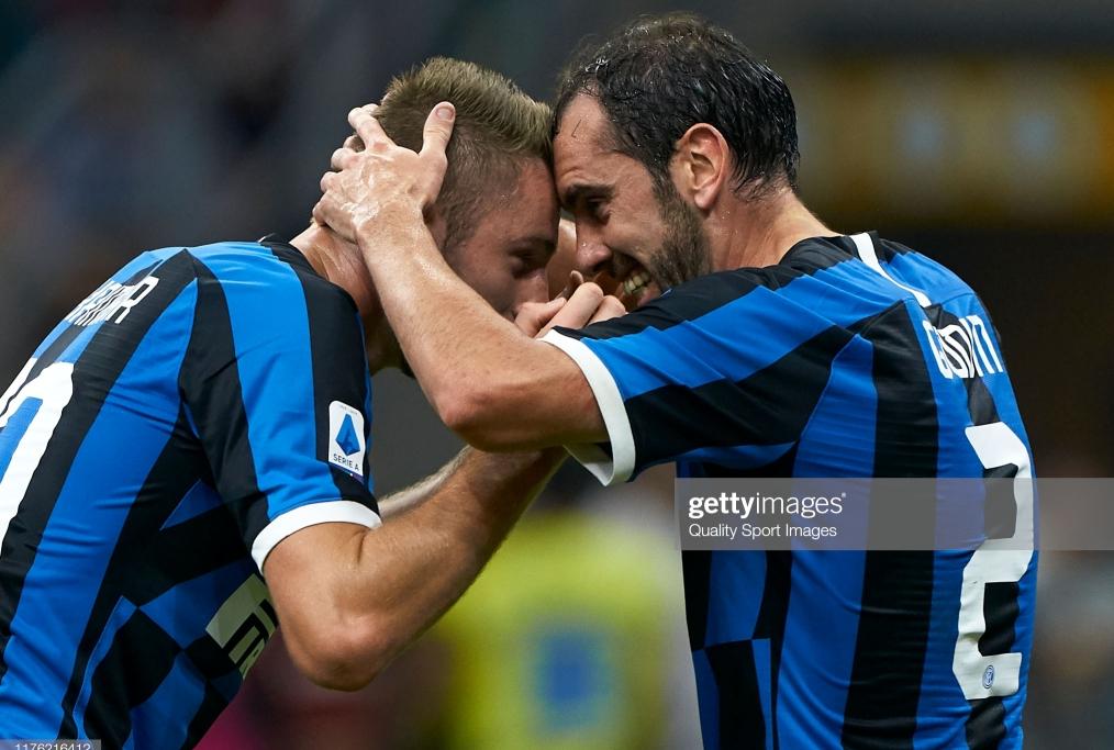 MILAN ITALY - SEPTEMBER 21 Diego Godin o