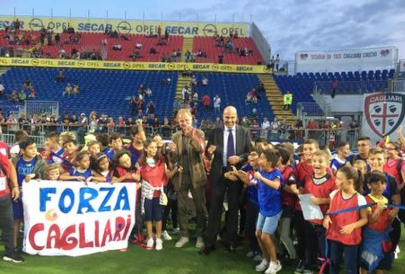Il presidente del Cagliari Tommaso Giuli