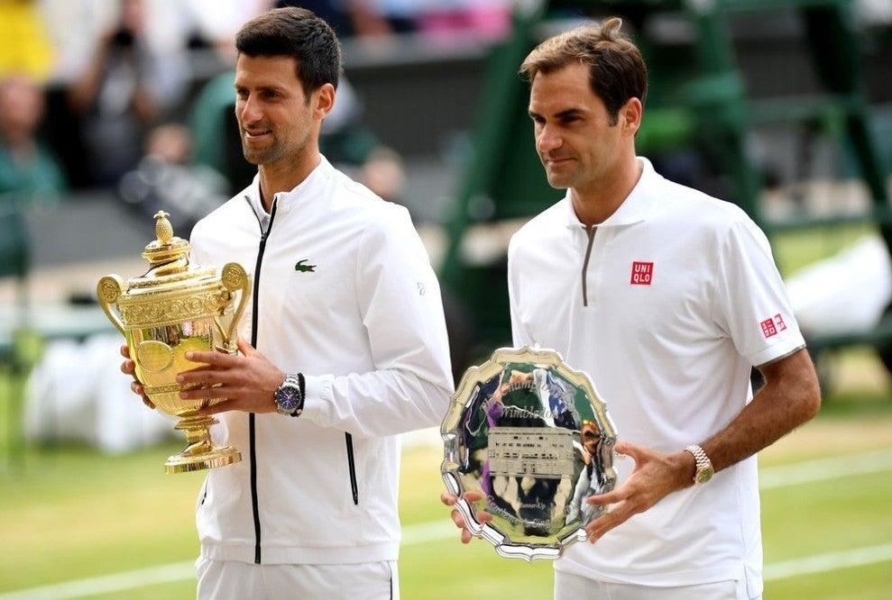 Djokovic e Federer Wimbledon 2019