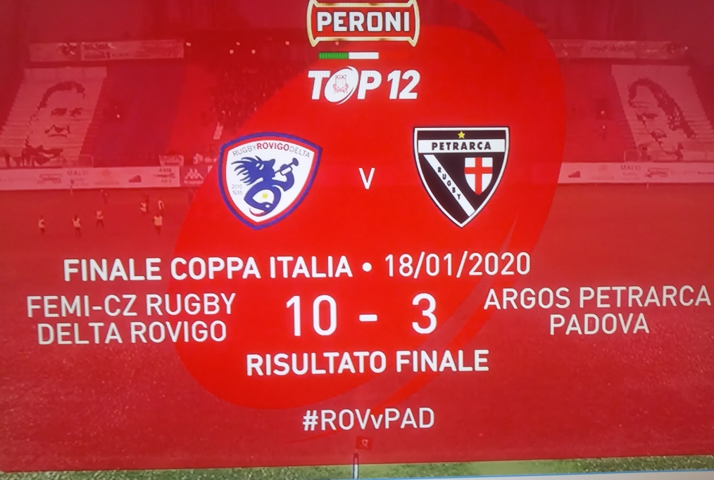 Tabellino coppa italia rugby