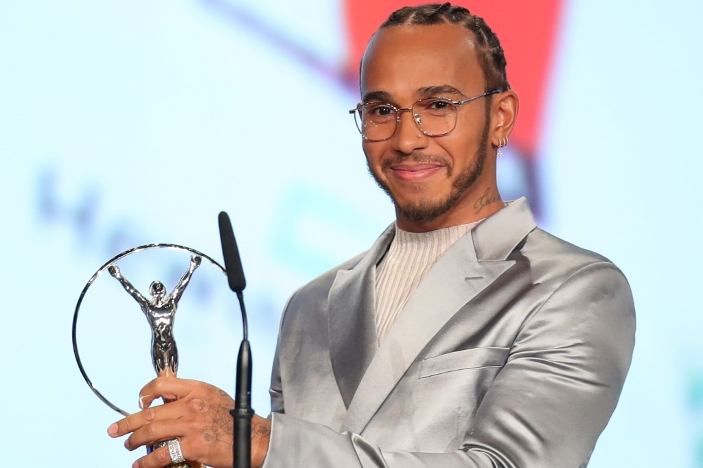 Lewis Hamilton Laureus Awards 2020