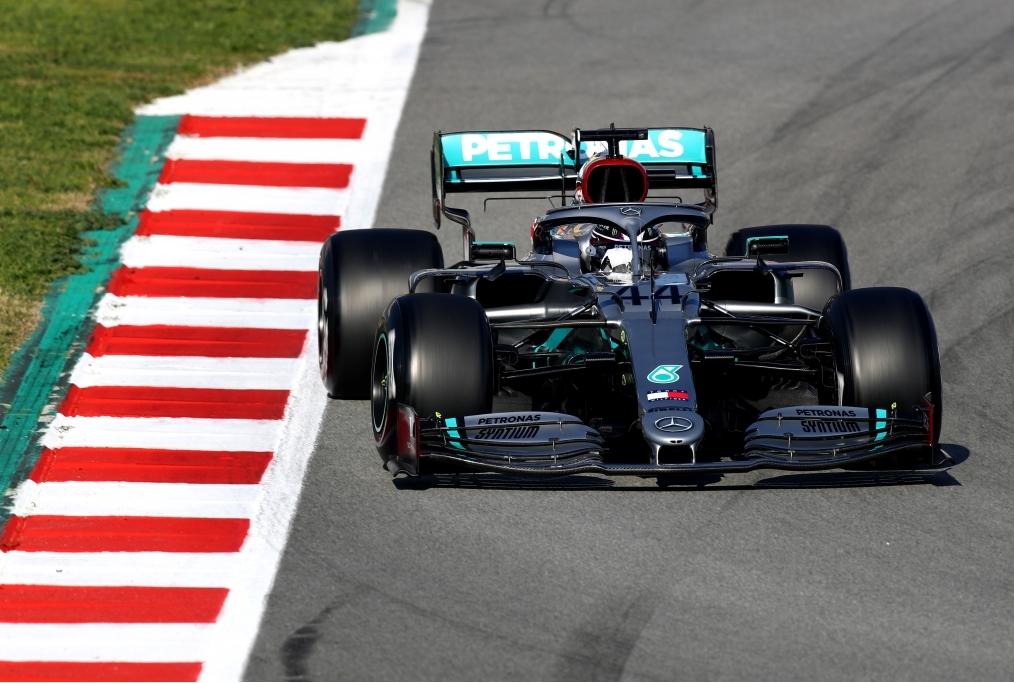 F1 Testing Barcelona Hamilton