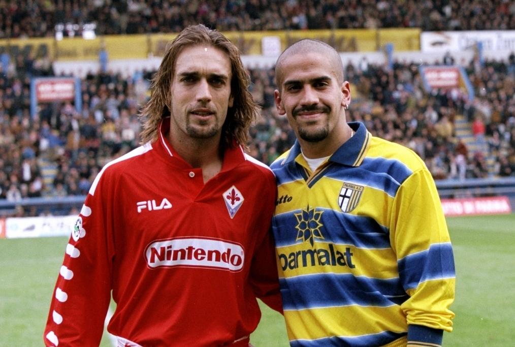 Gabriel Batistuta and Juan Sebastian Ver