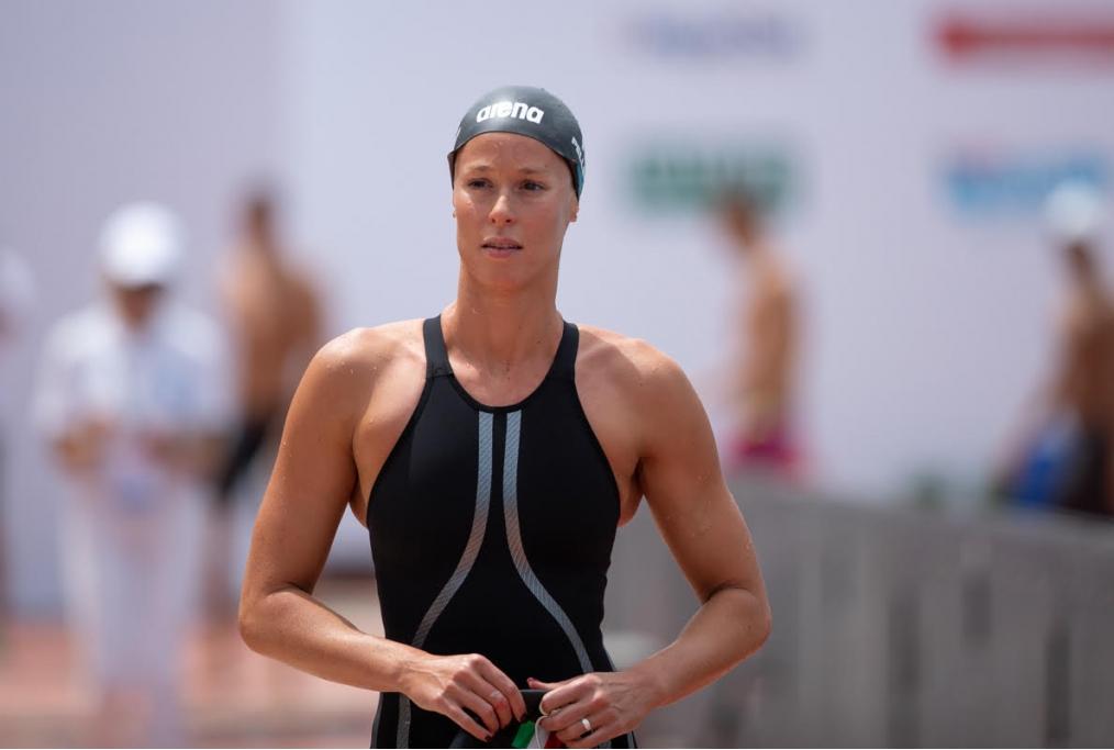 La campionessa di nuoto Federica Pellegr