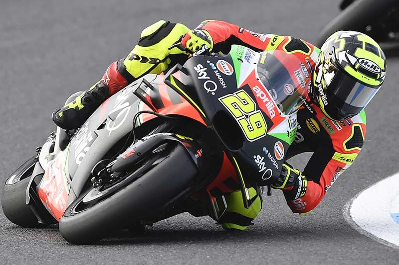 Andrea Iannone in gara