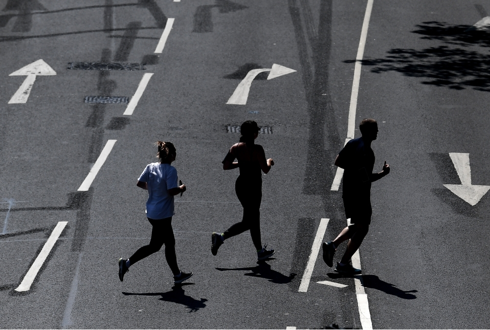 Views Of The Iconic London Marathon Rout