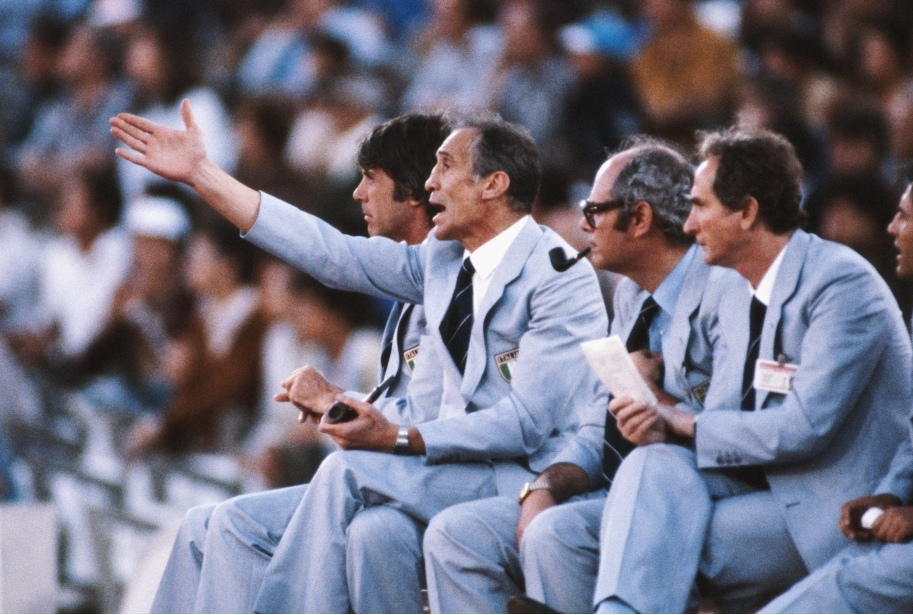 Enzo Bearzot Italy 1982 World Cup Finals