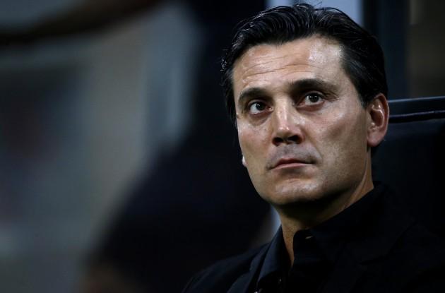 Vincenzo Montella è alla sua seconda stagione sulla panchina del Milan